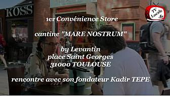 Kadir TEPE du Levantin ouvre la cantine MARE NOSTRUM place Saint Georges à Toulouse.