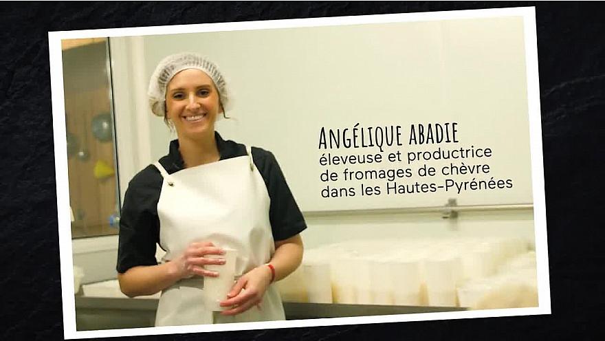 Angélique Abadie, productrice de fromages de chèvre
